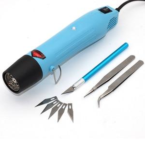 Image 1 - Тепловая пушка, Электрический электроинструмент, горячий воздух 300 Вт, температура DIY, тепловая воздушная пушка для термоусадочной пластиковой посуды FIMO dinks, полимерная глина, тиснение 858