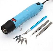 الحرارة بندقية الطاقة الكهربائية أداة الهواء الساخن 300 واط درجة الحرارة DIY بها بنفسك مسدس هواء ساخن ل يتقلص البلاستيك فيمو dinks بوليمر كلاي النقش 858