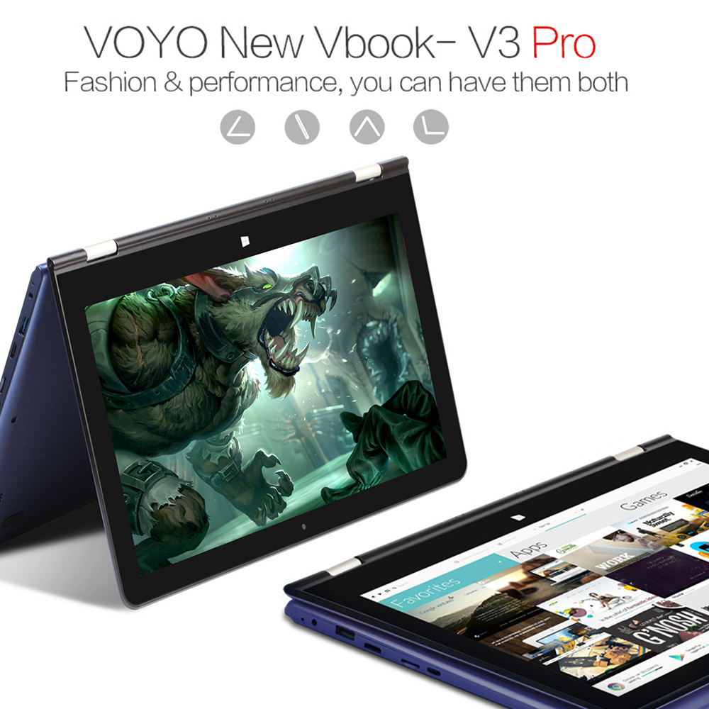 VOYO V3PRO Laptop Tablet PC Notebook 13.3inch IPS Touch Screen 8GB DDR3L 128GB SSD WiFi BT4.0 12000mAh Battery with Stylus Pen new 7 inch tablet pc mglctp 701271 authentic touch screen handwriting screen multi point capacitive screen external screen