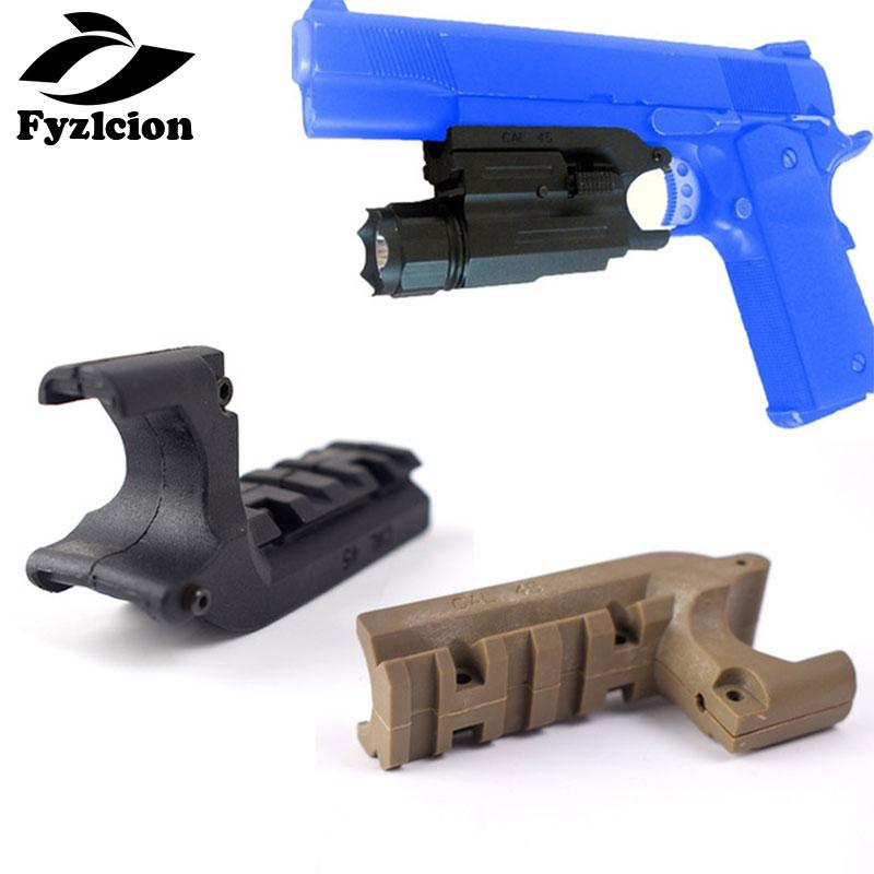 Fyzlcion Tactical 1911 M1911 Pistol Under Rail Mount Pistol Rail Adapter Laser Flashlight Mount with Trigger