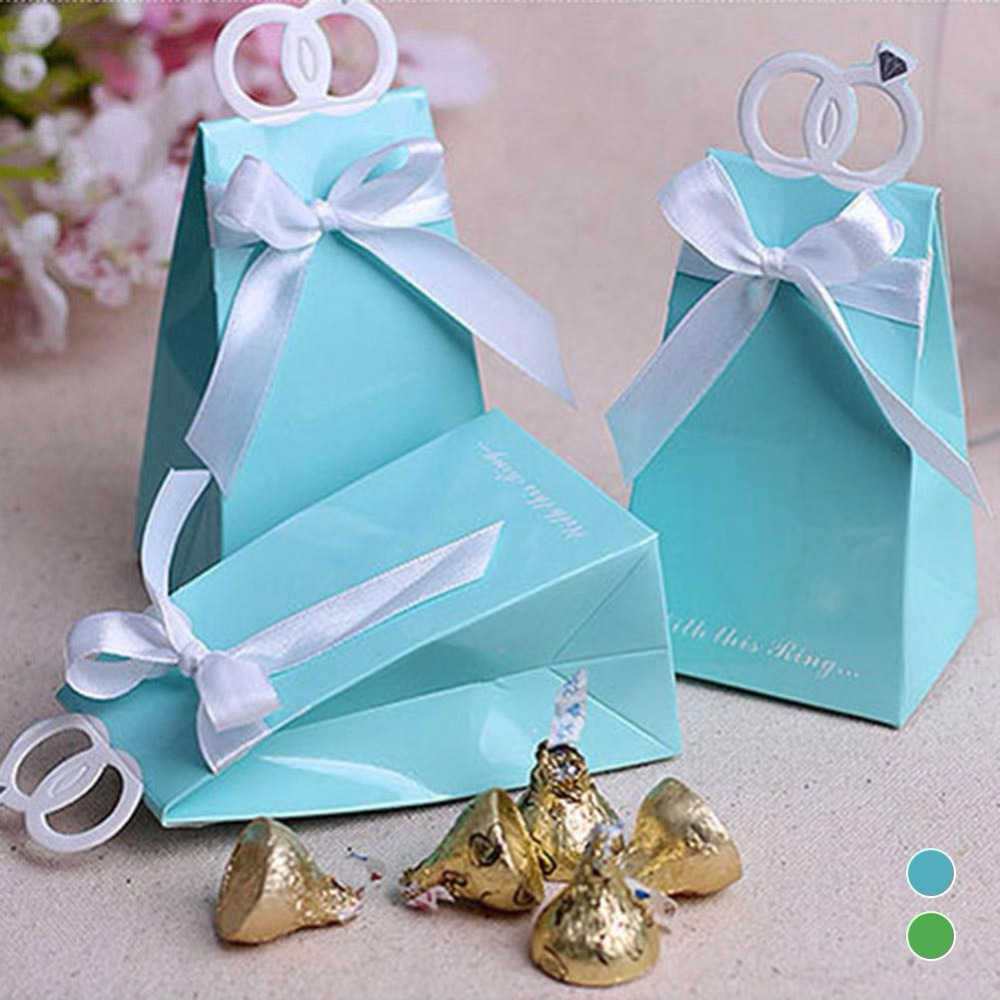 12pcs Paper Wedding Gift for Guests Candy Box Baby Shower Decorations Bag Handle Wedding Favors Gifts Boxes Event Party Supplier