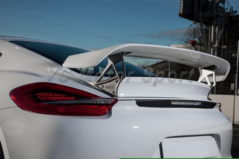 2014-2016 Porsche Cayman 981 Techart Style Rear Spoiler FRP (18)
