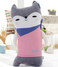 lovely scarf fox toy large 75 cm cartoon fox plush toy soft long pillow birthday gift