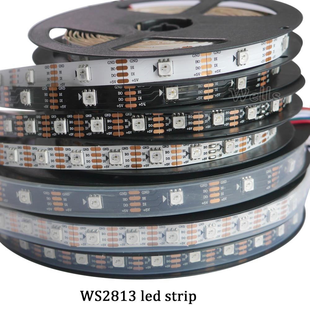 New 1m/5m WS2813 Smart Led Pixel Strip,Black/White PCB,30/60 Leds/m WS2813 IC;better Than WS2812B Strip,IP30/IP67 DC5V