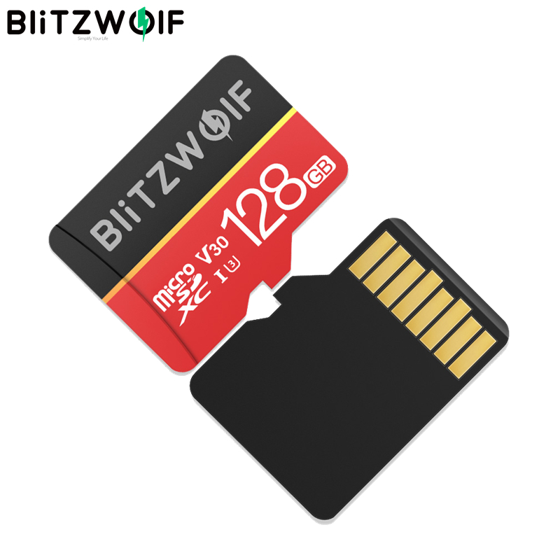 Blitzwolf Micro-Sd-Memory-Card Adapter Internal-Storage UHS-1 Class-10 32GB 16GB V30 title=