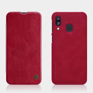 Image 3 - For Samsung Galaxy A40/A50/A10/A30 Cover case Nillkin Qin PU Luxury Flip leather back cover wallet case