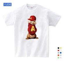 2019 Hot Sale ! New Alvin and the Chipmunks boys tops girls Costume kids costume Free Shipping 3T-9T YUDIE