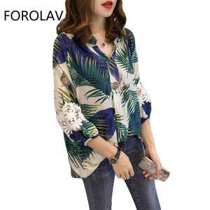 ead2689fbfa FOROLAV Plus Size Tops Shirts Woman Blouse 2018 Summer