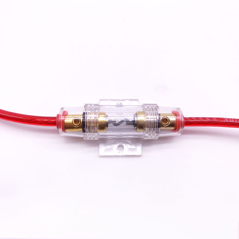 1pcs Car Audio Refit Fuse Holder 4/8 And 10 Gauge Wire With 60 AMP ...