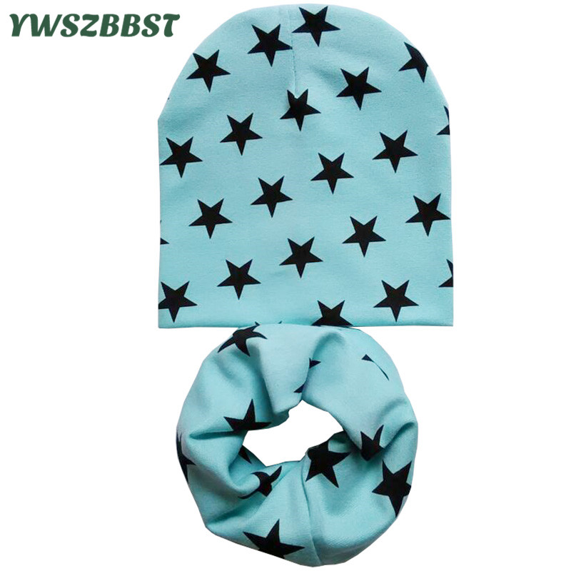 Autumn Winter Crochet Baby Hat Girl Boy Cap Kids Beanie Stars Infant Hat Cotton New Children Collar Scarf baby cap child cap
