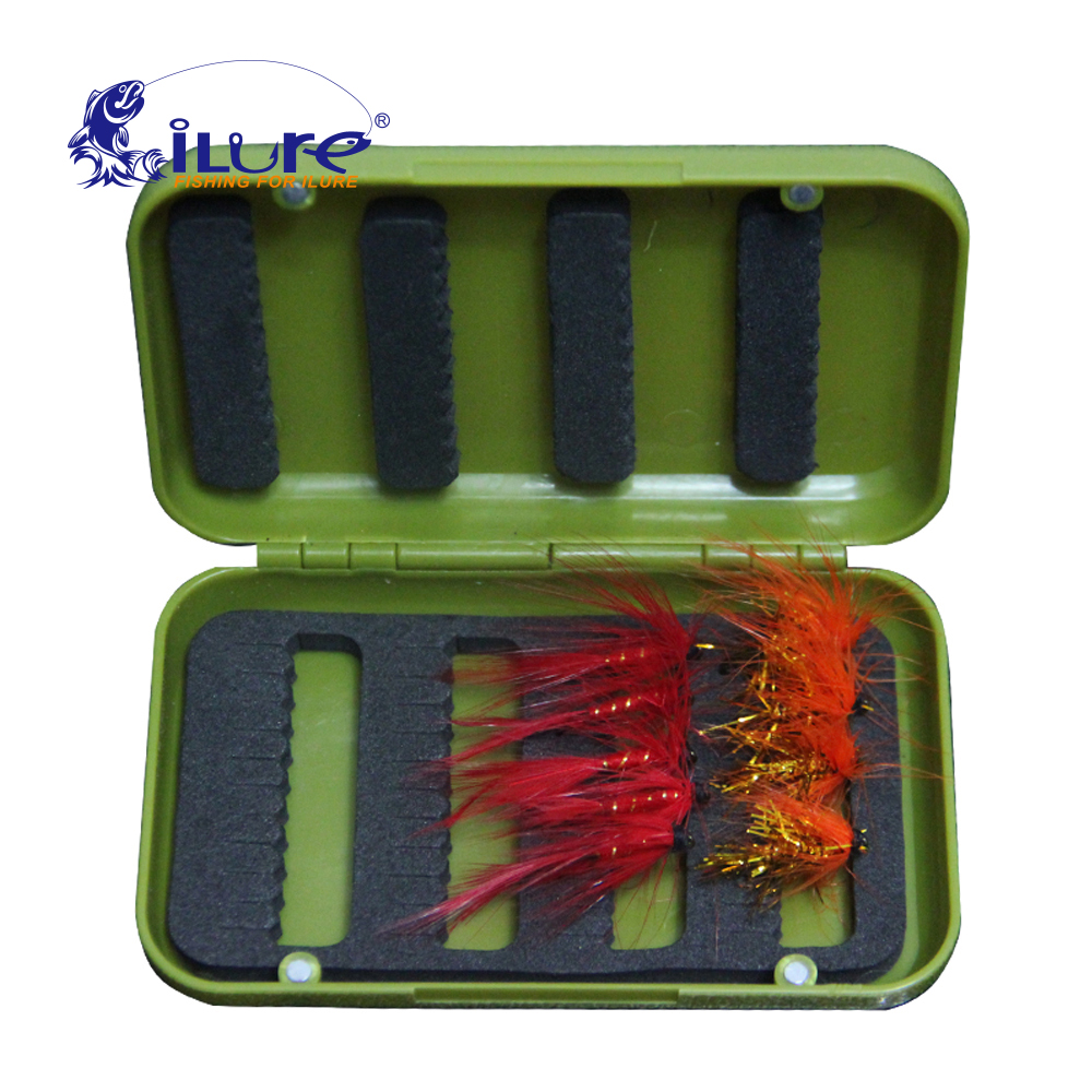 Ilure free shipping durable abs plastic foam fly fishing for Fishing hook storage