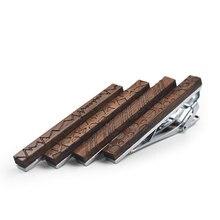 5,5 см роскошный французский Мужской деревянный подарок сплав медь металл галстук бар жених свадебная деловая Вечеринка деревянный Романтический зажим для галстука