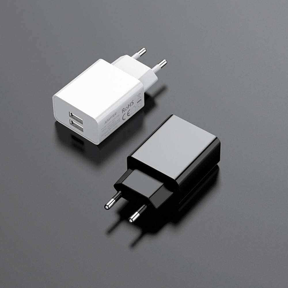 Quick Charge Charging Head 5V 2A Dual Port USB Mobile Phone Wall Charger Adapter For IPhone Samsung Huawei Universal Charger