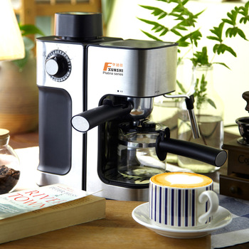 0.24L 5 Cups Electric Coffee Maker / Milk Foam Maker Office Espresso Italian Style Automatic Insulation Electric Coffee Machine 2