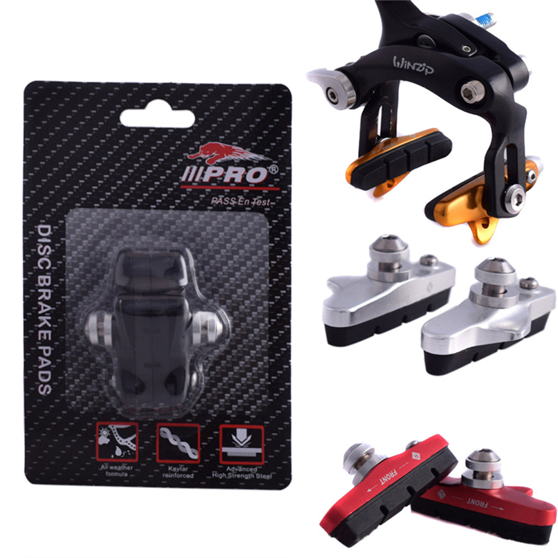 2PCS Durable Rubber Bicycle Cycling Bike V Brake Holder Pads Shoes Blocks NEW