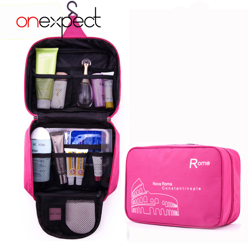 onexpect women cute color makeup cosmetic bag easy carry compact travel wash bag toiletries bag