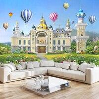 Foto sfondo personalizzato 3d mural bella ragazza piccola principessa dream castle 3d sfondo muro di carta da parati per camera da letto