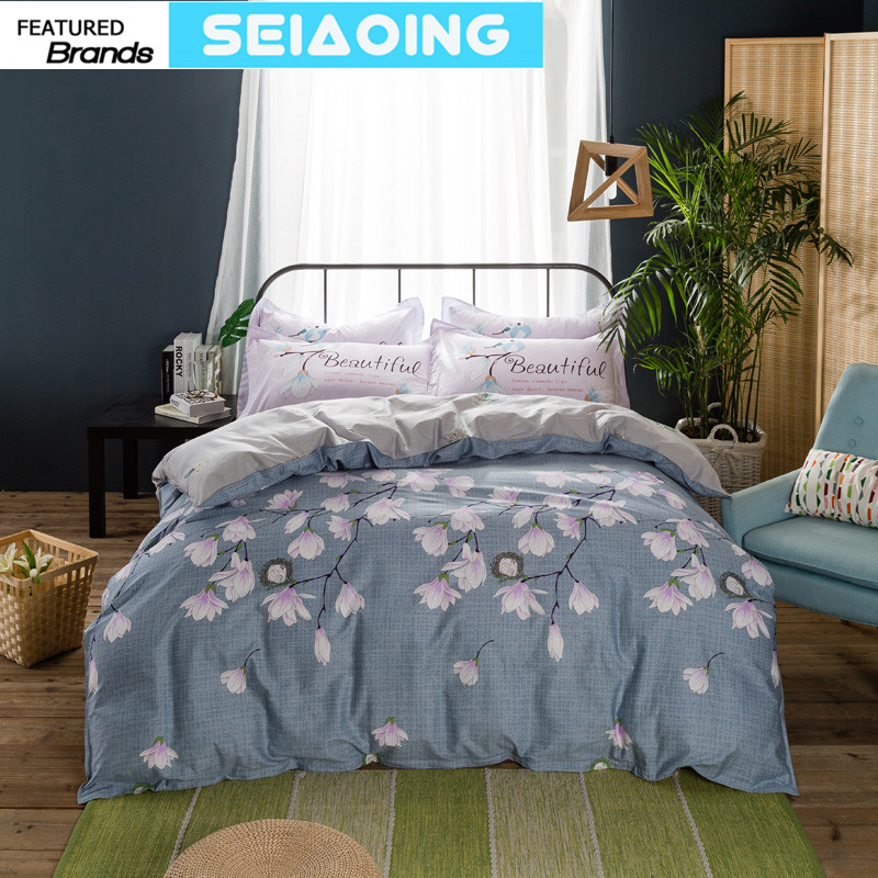 Chinese floral 4pc 100% cotton bedding sets queen sizes 3d duvet cover gery bed clothes adult girls decor flat sheet pillowcasesChinese floral 4pc 100% cotton bedding sets queen sizes 3d duvet cover gery bed clothes adult girls decor flat sheet pillowcases