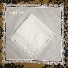Rosaliya Set 12 Fashion Ladie Handkerchchiefs 12-inch Vintage Shell Lace handkerchief