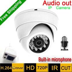 Gorąca sprzedaż mini kamera IP 720 P HD sieci P2P KAMERA TELEWIZJI PRZEMYSŁOWEJ Mega pikseli kryty kamera sieciowa IP  ONVIF H.264 kamery na podczerwień