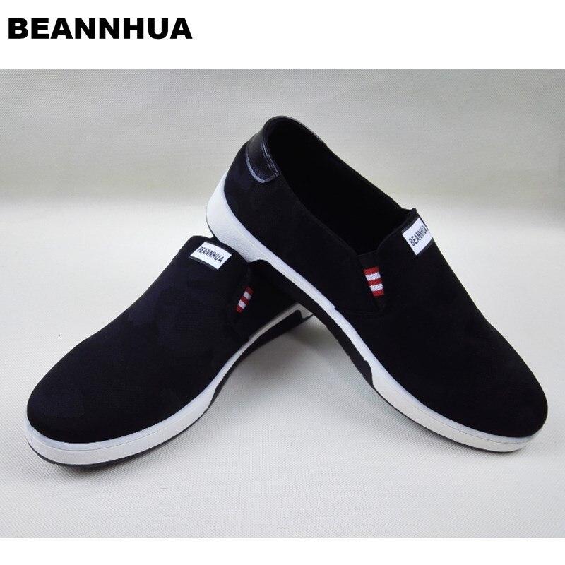 Ayakk.'ten Erkek Rahat Ayakkabılar'de BEANNHUA Marka Erkek rahat ayakkabılar Siyah Renk Toptan ve perakende Yüksek Kalite ışıklı ayakkabı 031'da  Grup 1