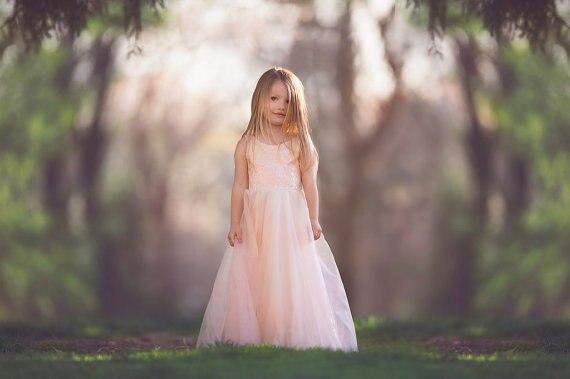 Pink   Flower Girls Dresses For Wedding Gowns Tulle  Kids Prom Dresses Ankle-Length  Dress Girl vestido daminha