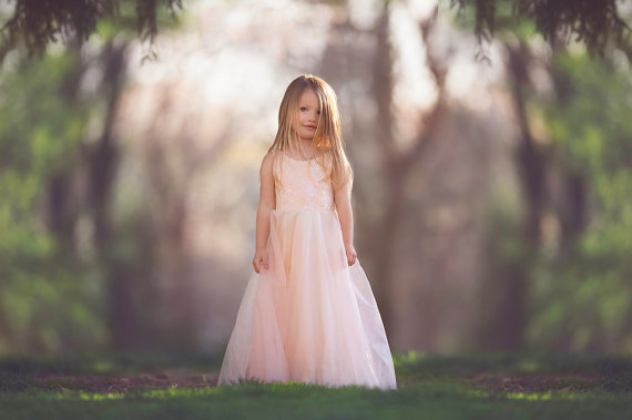 Pink Flower Girls Dresses For Wedding Gowns Tulle Kids Prom Dresses Ankle-Length Mother Daughter Dresses vestido daminha