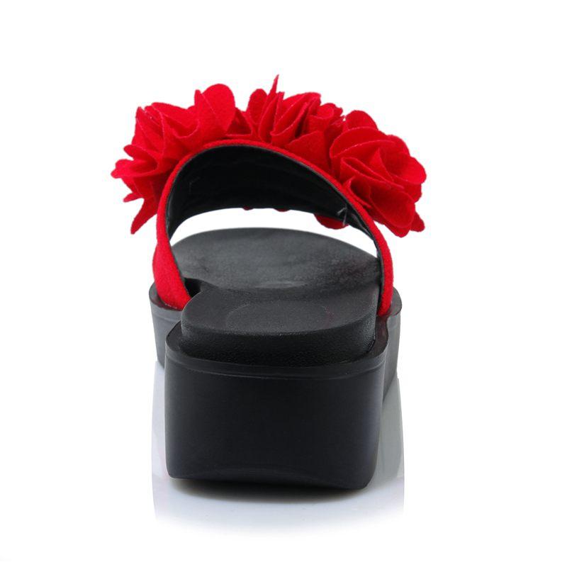 Confortevole Novità Lenkisen Fuori Scarpe 2018 L18 Nero Chiaro Street Di High Al Della Pantofola Toe A rosso Gregge Modo Pieghe Il Spessore Stile Donne verde Inferiore Peep ZOrRZn