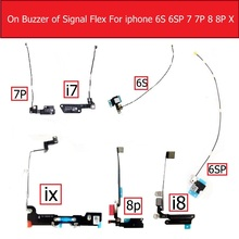 Genuine wifi Antenna signal flex cable For iPhone 6s 7 8 plus X 10 GPS Signal Flex Cable on louder Speaker replacement repair