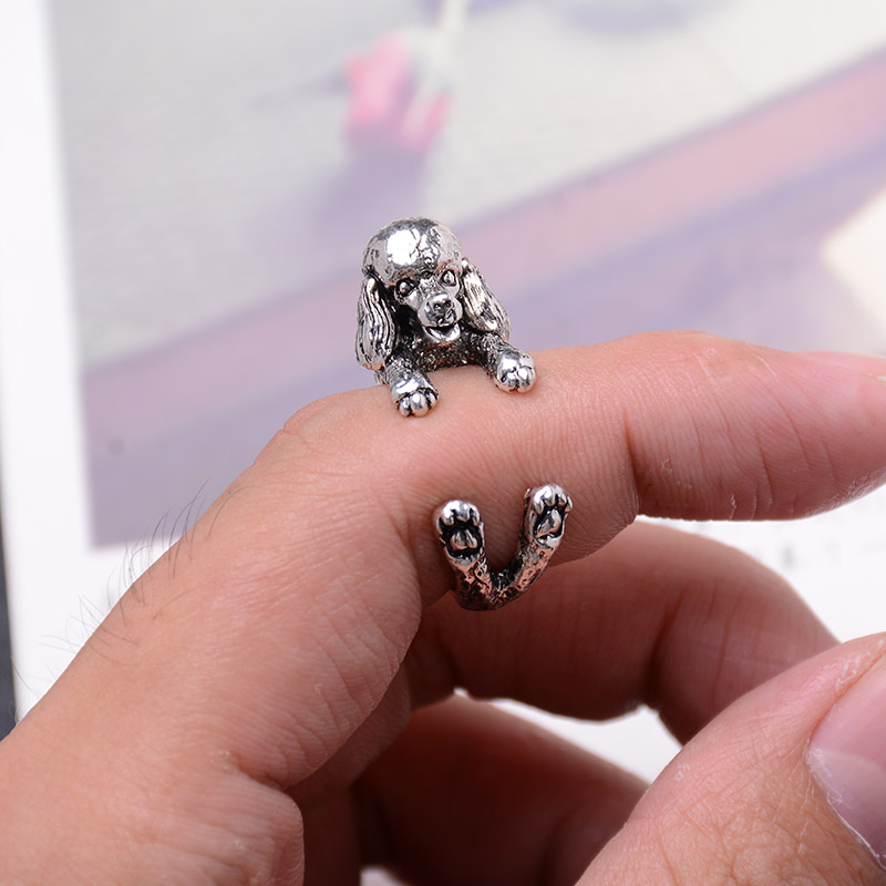 Aliexpress Spanish Hound Adjule Dog Rings Animal Jewelery Women S Antique Bronze Silver Black Jewelry Whole From Reliable Ring