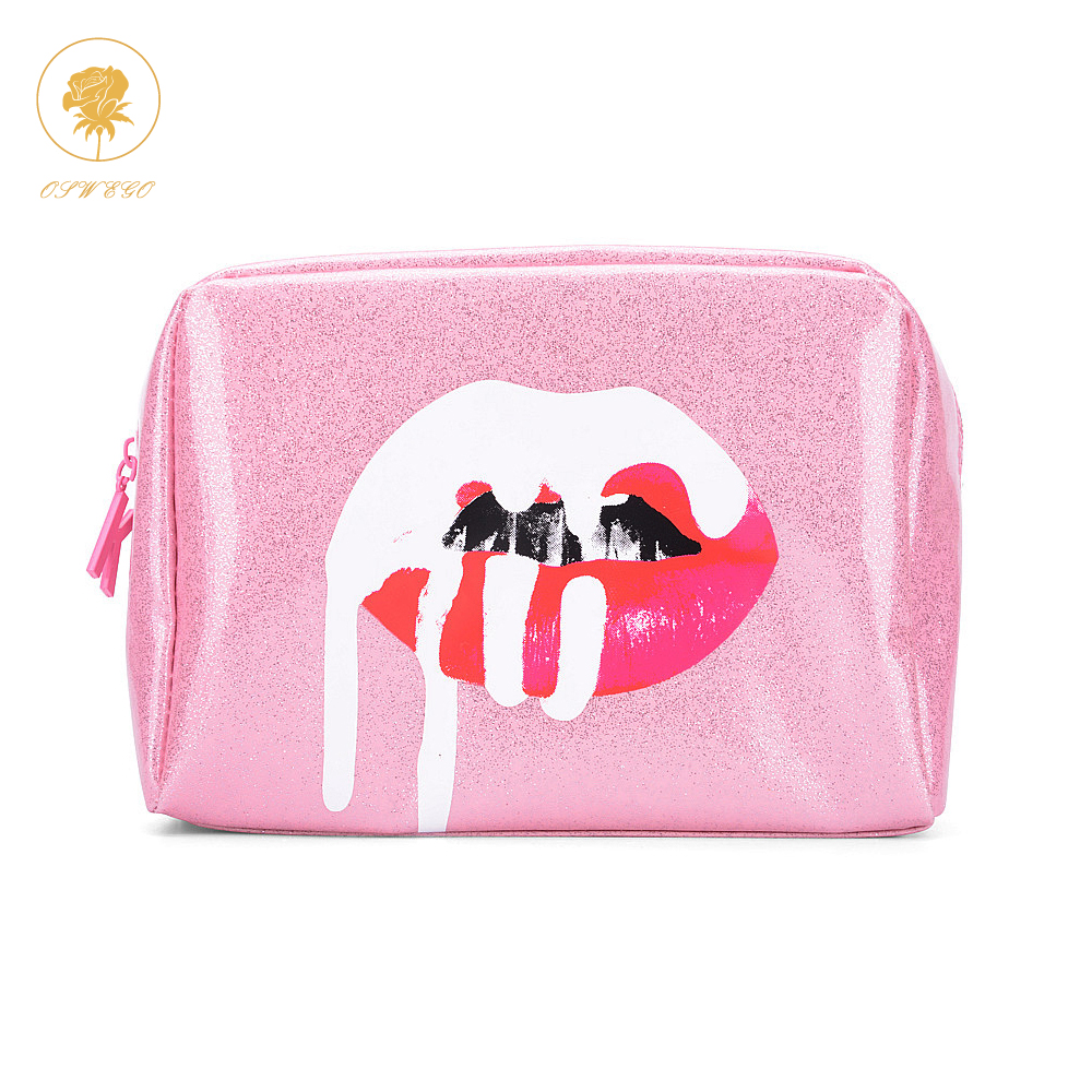 Oswego Makeup Bag Women Cosmetic Tote Bag Zipper Fashion Large PU Storage Bag Ladies Travel Organizer Women Make up Cases 2019