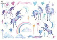 2018 Cute Unicorn Film Photo Notebook DIY Manual Stickers Tape Paper Diary Scrapbooking Craft Home Decor Stickers Fancy Gift(China)