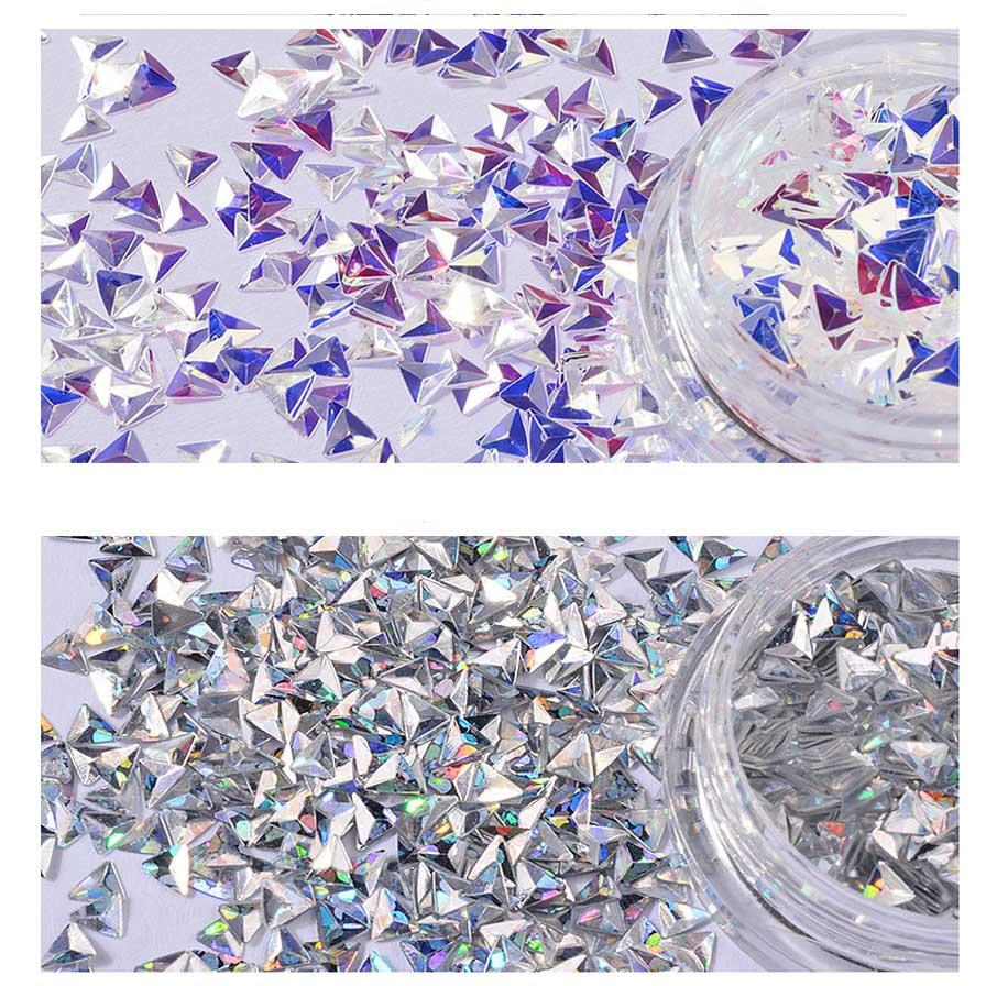 6 Box/Set 3D Meerjungfrau Diamant Nagel Glitter Flakes Pailletten ...