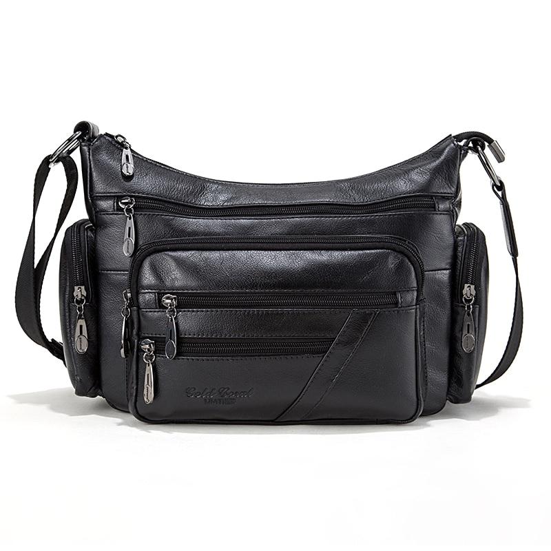 Gold Coral Genuine Leather Shoulder bags for women Fashion Crossbody Bags Female Handbags Ladies Messenger Bag