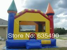 5x4x4m PVC tarpaulin inflatable princess bouncer castle, inflatable bounce house