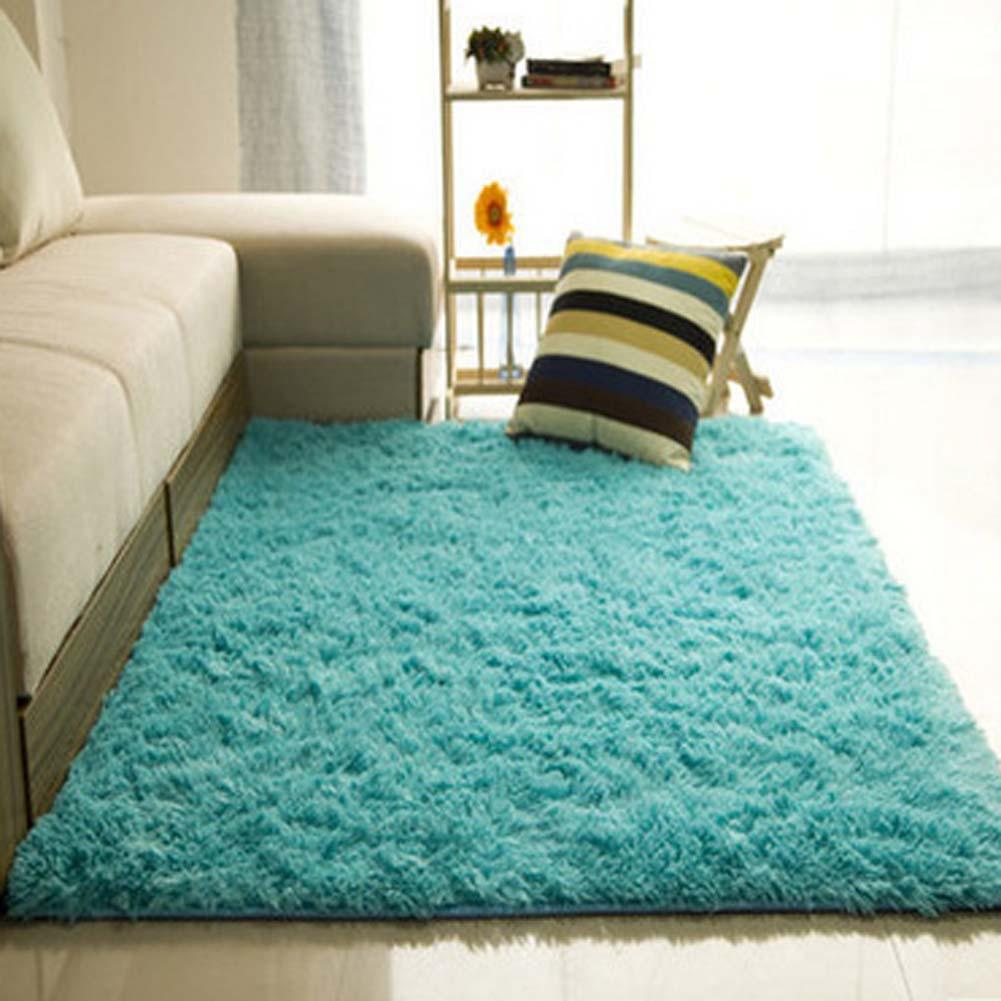 Fluffy Rugs Anti Skiding Shaggy Area Rug Dining Rooms Carpet Floor Mats  Blue Shaggy Rugs Shag Rugs APJ In Carpet From Home U0026 Garden On  Aliexpress.com ...