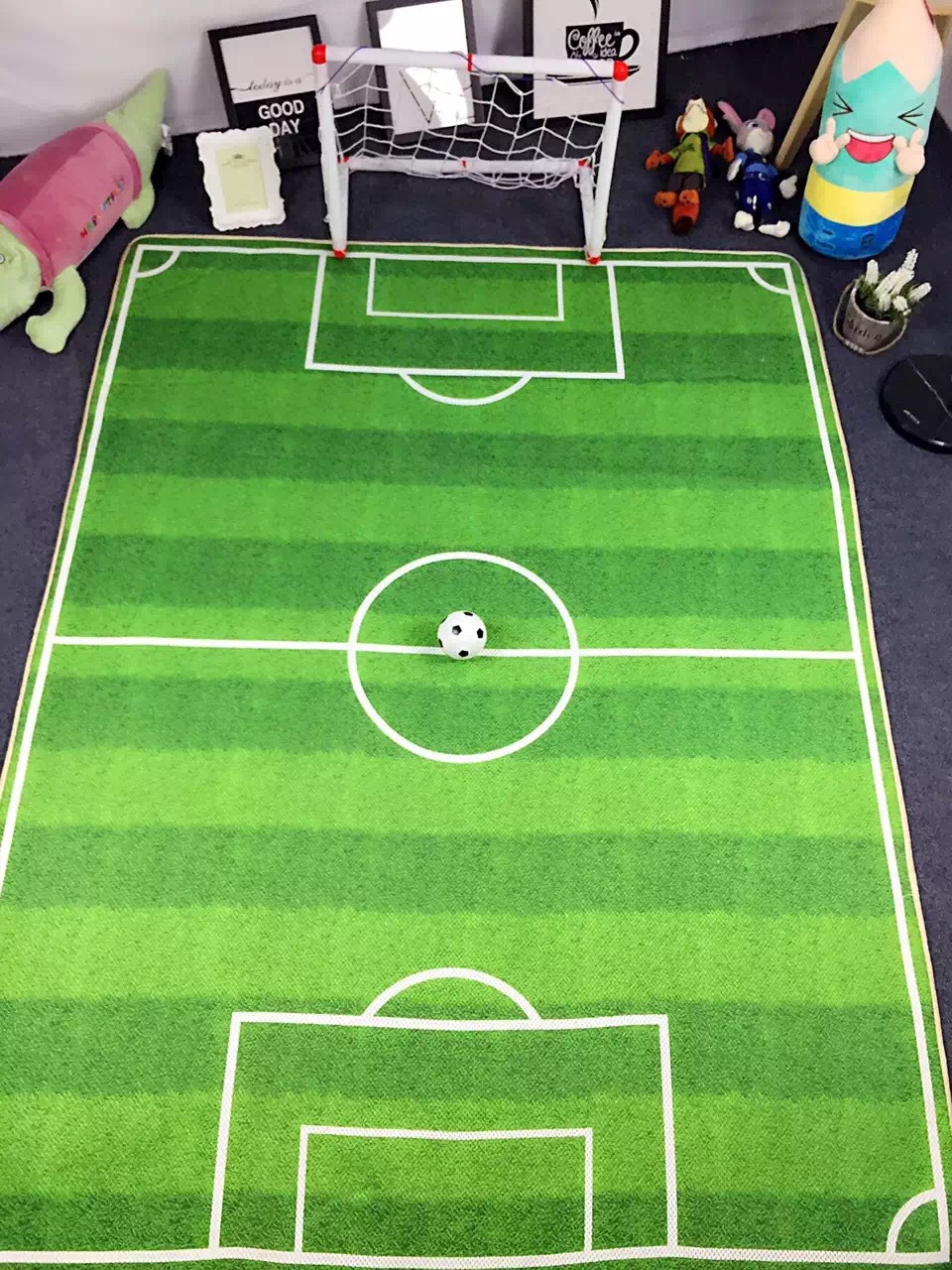 3D Kids Rug Football Carpet Jogging Football Training For