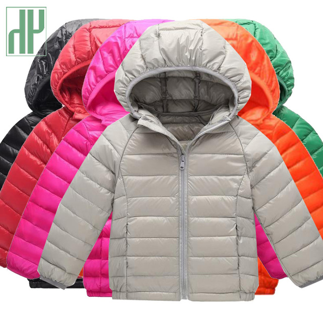 Best Price HH kids winter jacket for boy Ultra light Children Outerwear Clothing Casual Baby Girls Clothes Autumn Parkas Dropshipping