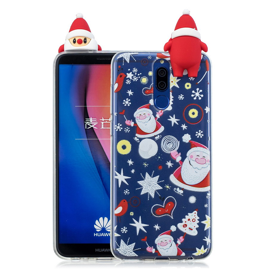 3D Christmas Tree Phone Case For Huawei Mate 10 Lite Santa Claus Snowman Xmas Cases For Huawei Mate10 Lite TPU Silicone Cover