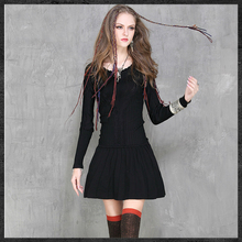 2016 Women Autumn Winter Dress Retro Jacquard Twisted Wool Knitted Sweater Dresses Slim O-neck Solid Color Pleated Dress Vestido