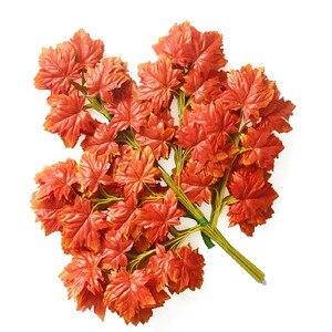 Image 3 - Новое поступление, искусственные шелковые кленовые листья для дома, украшения для свадебной вечеринки, разноцветные осенние яркие искусственные листья для декора листьев