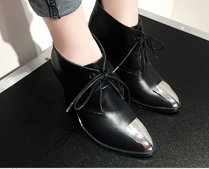 Sexy Snake Leather Party Casual Lace-up Spring Autumn Shoe Shallow High Designed Heel Women Ankle Boots Free Ship Zapatos Mujer