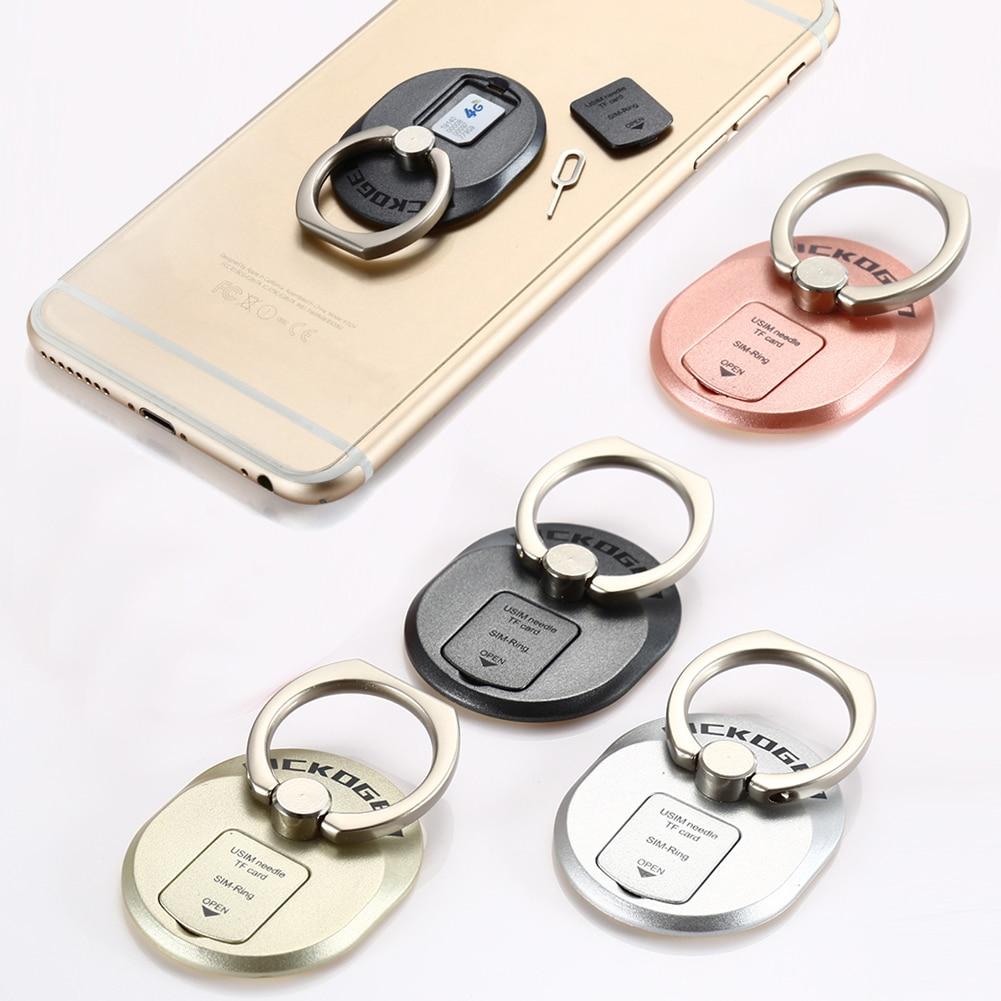 360 βαθμός δάχτυλο δαχτυλίδι κινητό τηλέφωνο Smartphone κάτοχος βάσης με κάτοχος καρτών SIM για το iPhone Samsung Galaxy S7 Edge HTC Xiaomi