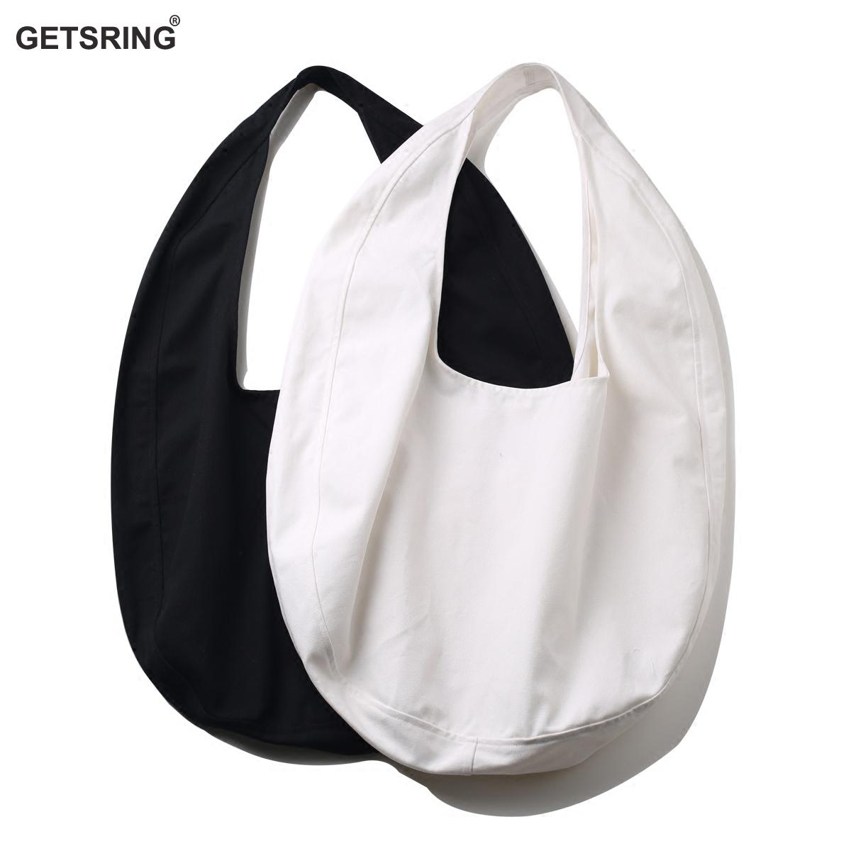 GETSRING Women Bag Handbag Cotton Canvas Bags Large Capacity Round Outline Single Shoulder Bag Casual Vintage