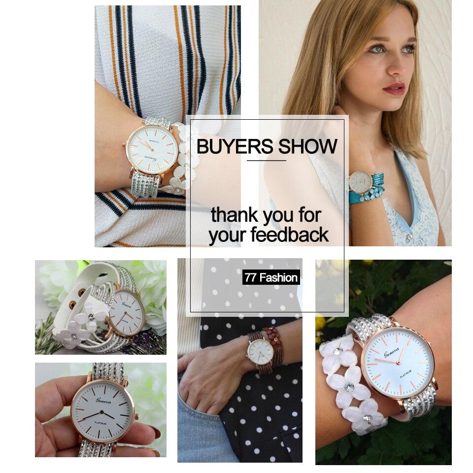 Fashion Geneva Flowers Watches Women Dress Elegant Quartz Bracelet Ladies Watch Crystal Diamond Wrist Watch Gift Reloj Mujer 4