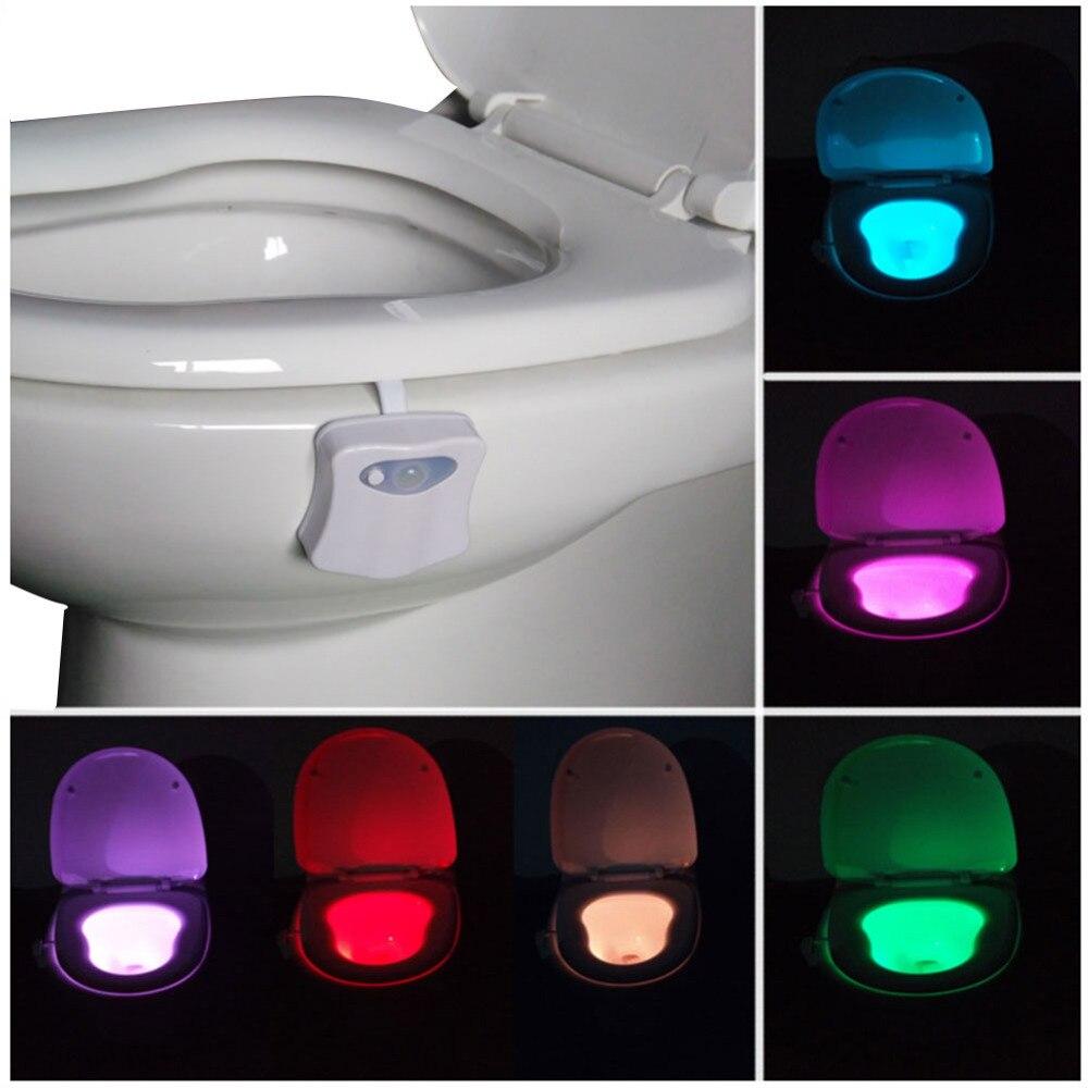 2017 New Led Toilet Light Motion Activated Sensor Toilet