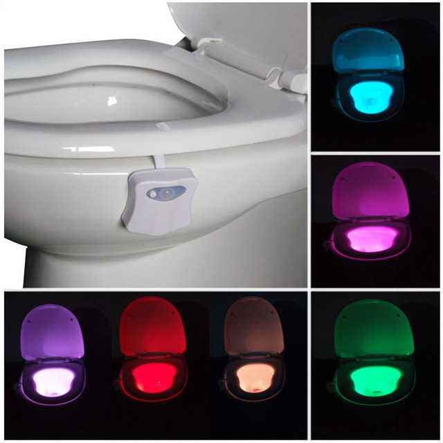 2017 New LED Toilet light Motion Activated Sensor Toilet Light Sensitive Battery-operated 3D Lamp Party Bathroom DIY accessories