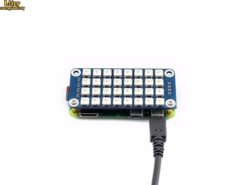 True color RGB LED HAT for Raspberry Pi, colorful display Supports any revision of Raspberry Pi (directly-pluggable)