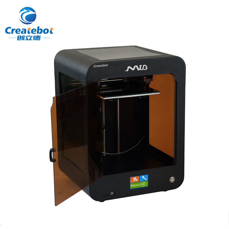 High Accuracy Factory Price Createbot Touchscreen MID 3D Printer with Single Extruder and Heatbed Print Size 205*205*250mm