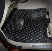 Good mats! Special floor mats for Ford Everest 7seats 2017 durable waterproof foot carpets for Everest 2016,Free shipping